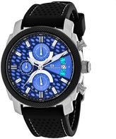Oceanaut Kryptonite Mens Blue & Black Rubber Strap Watch