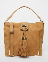 Aldo Slouch Shoulder Bag With Foldover Tassel Detail