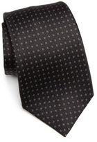 Kiton Dot Printed Silk Tie
