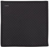 Eton Black Polka-dot Silk Pocket Square
