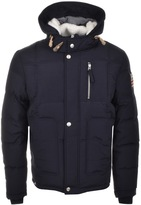 True Religion Hooded Down Jacket Blue