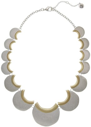 The Sak Two-Tone Half Moon Statement Necklace