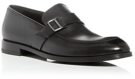 Ermenegildo Zegna Men's Siena Flex Leather Apron-Toe Loafers