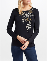 Marc Cain Embroidered T-Shirt, Navy