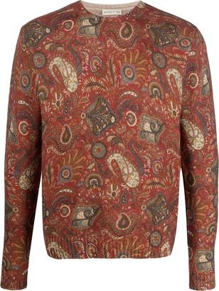 Etro Paisley-Print Crew-Neck Sweater