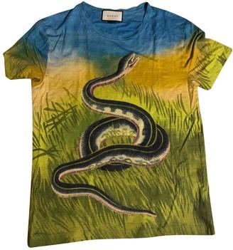 Gucci Multicolour Linen T-shirts