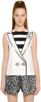 Moschino Vest With Flower Printed Techno Cady Top