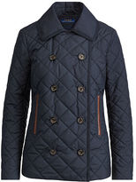 Polo Ralph Lauren Leather-Trim Peacoat