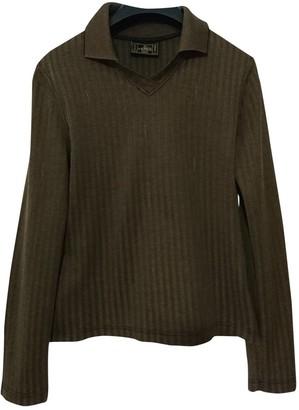 Fendi Khaki Cotton Knitwear for Women Vintage