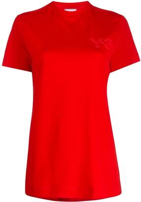 Y-3 logo print cotton T-shirt