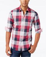 HUGO BOSS Green Men's C-Bansi Plaid Long-Sleeve Shirt
