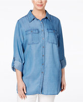 Style&Co. Style & Co. Plus Size Chambray Tunic Shirt