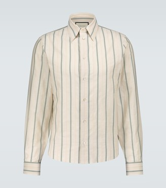 Gucci GG striped textured shirt