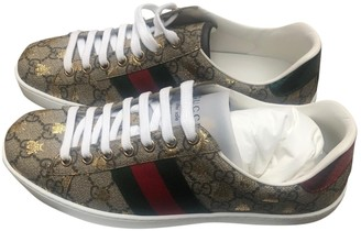 Gucci Ace Brown Cloth Trainers
