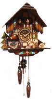 Wood Chopper Quartz Cuckoo Clock