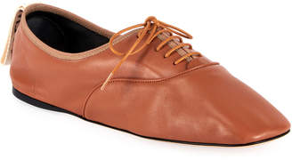 Loewe Soft Leather Derby Flats, Brown