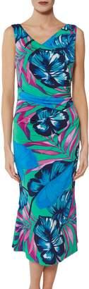 Gina Bacconi Kelsie Tropical Print Dress, Multi