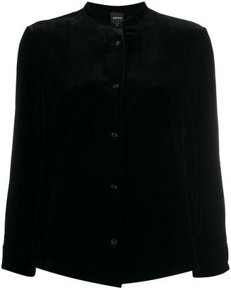 Aspesi long sleeved velvet blouse
