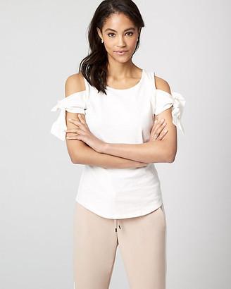 Le Château Cotton Jersey Cold Shoulder Top