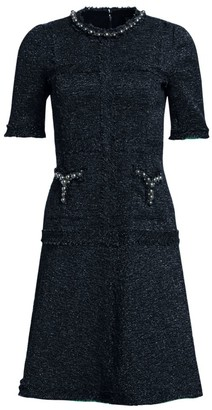 Teri Jon By Rickie Freeman Short-Sleeve A-Line Dress