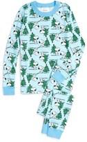 Hanna Andersson Toddler Peanuts Holiday Organic Cotton Fitted Two-Piece Pajamas