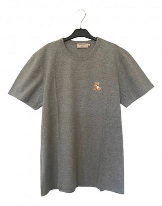 MAISON KITSUNÉ Grey Cotton T-shirts