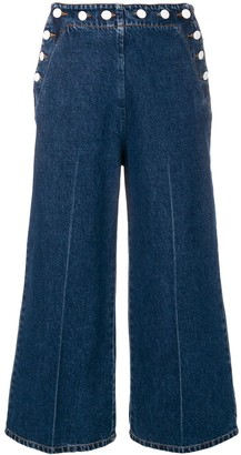 MSGM Wide-Leg Cropped Jeans