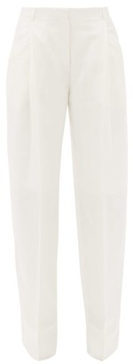Jacquemus Loya Wide-leg Cotton-blend Canvas Trousers - Cream
