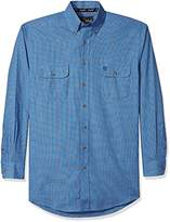 Wrangler Men's Big and Tall George Strait Two Pocket Long Sleeve Button Shirt