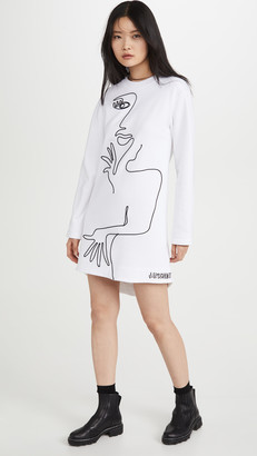 Moschino Long Sleeve Artwork Dress