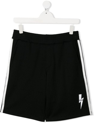 Neil Barrett Kids TEEN logo track shorts