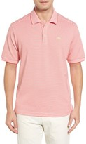 Tommy Bahama Men's Big & Tall Emfielder Stripe Pima Cotton Blend Polo