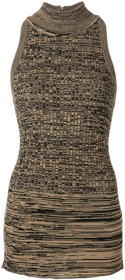 Cavallini Erika roll neck knitted top
