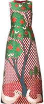 RED Valentino tree print flared dress