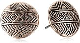 House Of Harlow Tholos Mosaic Rose Gold Stud Earrings