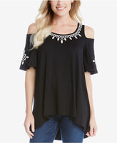 Karen Kane High-Low Off-The-Shoulder Top