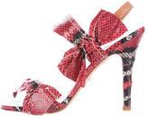 Prada Snakeskin Slingback Sandals w/ Tags