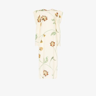 Johanna Ortiz Splashing Flowers silk maxi dress