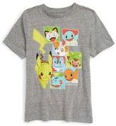 JEM Boy's 'Pokemon - Starter Boxes' Graphic T-Shirt