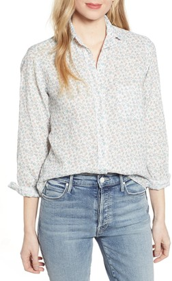 Grayson The Hero Tumbled Floral Print Linen Shirt