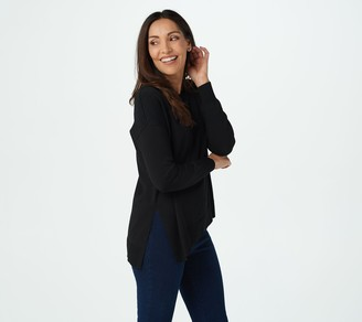 Women With Control Attitudes by Renee Asymmetric Knit Sweater