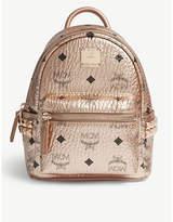 Mcm Metallic stud-detailed leather mini backpack