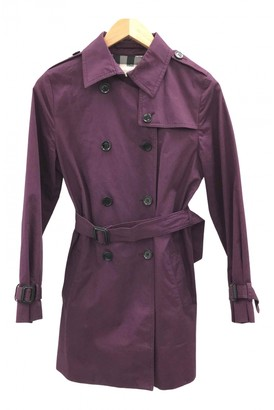 Burberry Purple Cotton Jackets & Coats