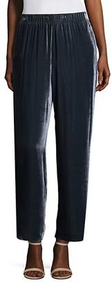 Peserico Velvet Straight-Leg Pants