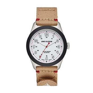 Eleven Paris One 111) Stainless Steel Quartz Watch with Nylon Strap