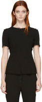 Raquel Allegra Black Frayed Blouse