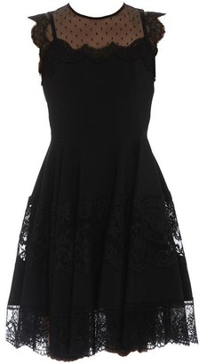Dolce & Gabbana Lace Trim Flared Dress