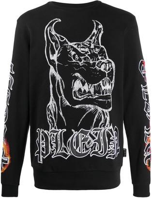 Philipp Plein Gothic Print Sweatshirt