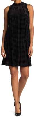 Tommy Hilfiger Mock Neck Houndstooth Dress