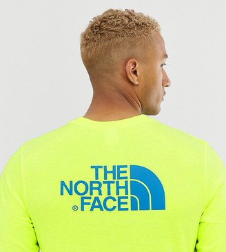 The North Face Easy long sleeve t-shirt in yellow Exclusive at ASOS